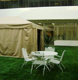 Smoking Tent to Sandbox and Swings!
